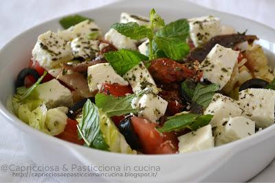 insalata con feta greca