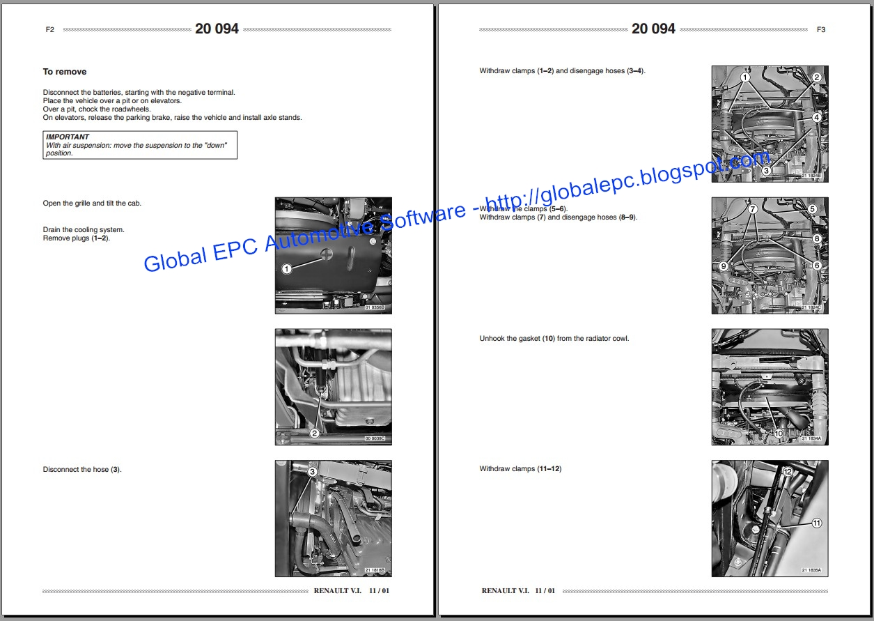renault midlum workshop service manuals