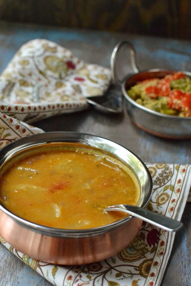 Mixed Dal Sambar with Onion & Radish