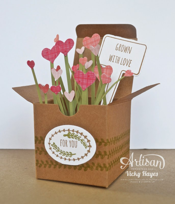Tiny treat boxes decorated with From the Garden by Stampin' Up