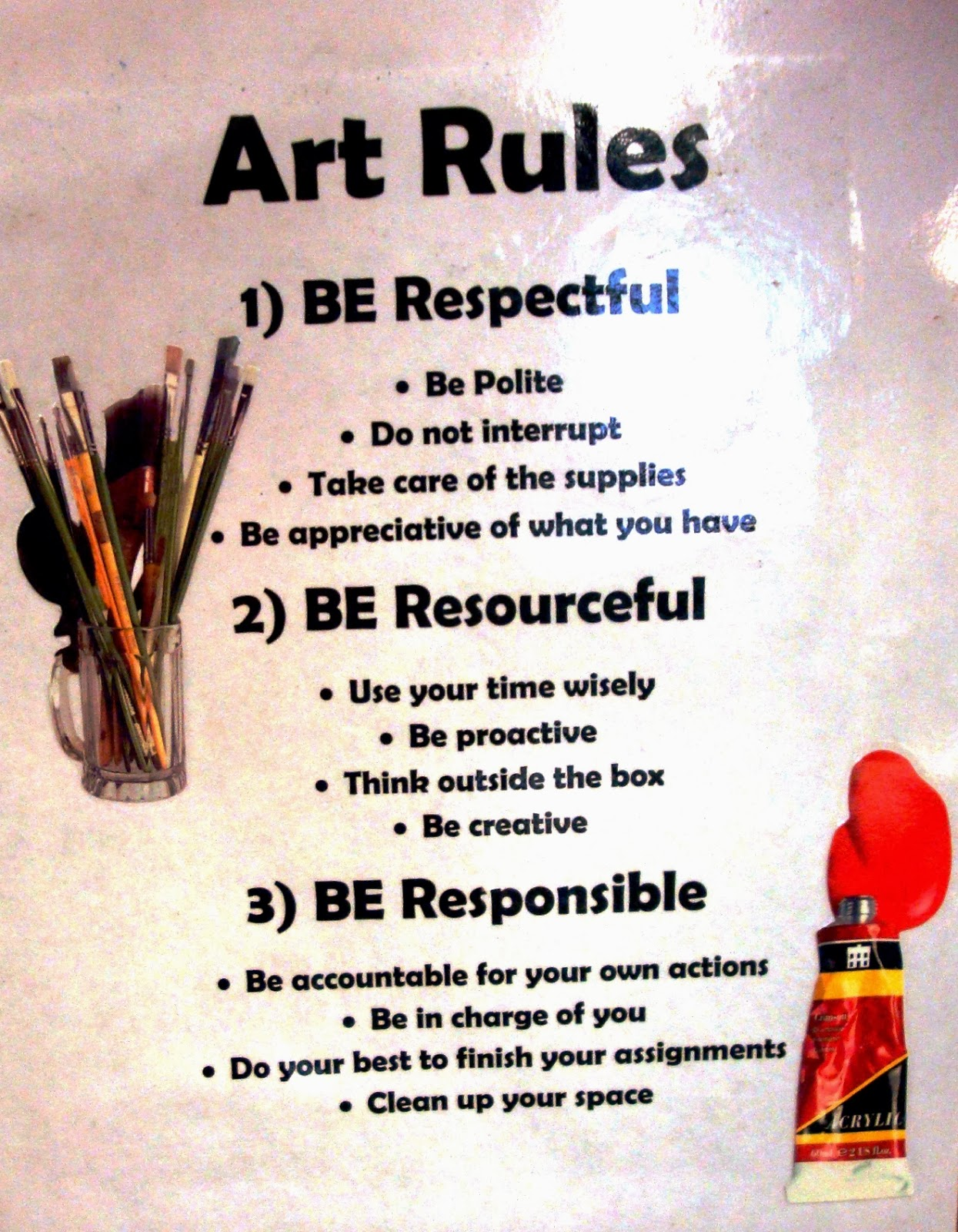 Elementary Classroom Rules ~ Managing the art classroom rules procedures