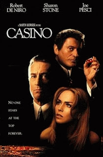 Cartel de la película 'Casino' (1995), del director Martin Scorsese, con Robert De Niro, Sharon Stone, Joe Pesci y James Woods. Revista Making Of. Cine