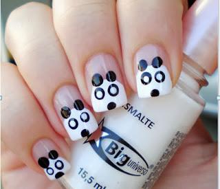 Decoração de unhas Panda como fazer passo a passo