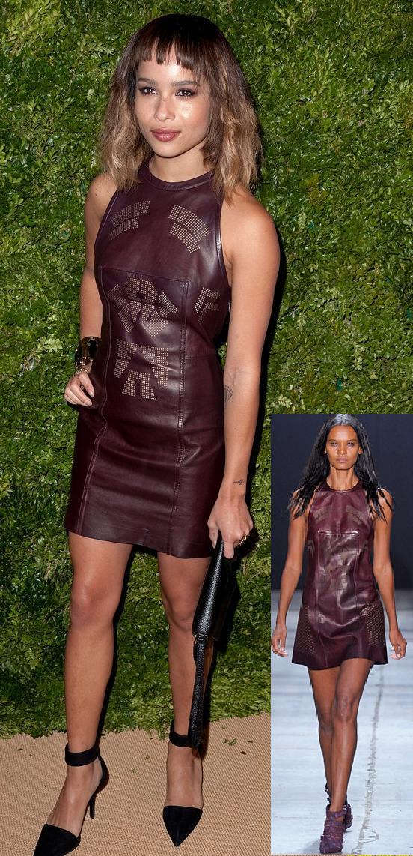Zoe Kravitz In Alexander Wang   2011 Cfda/vogue Fashion Fund Awards
