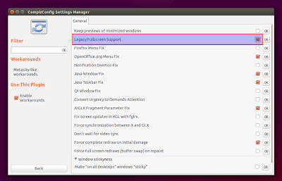 ccsm legacy fullscreen support