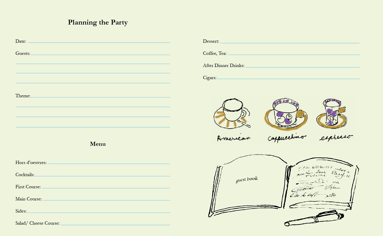 dinner party menu planning