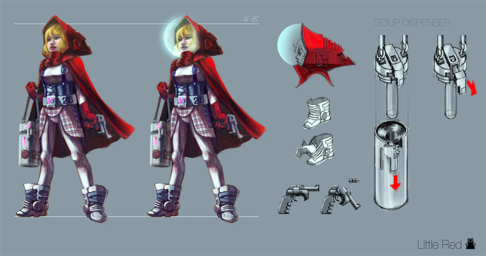 Little Red Riding Hood in Space
