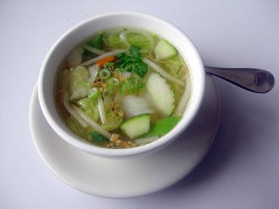 Vegetable Soup - Dusitra Thai Cuisine - North Haven, CT - Photo by Taste As You Go