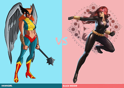Hawkgirl vs Black Widow