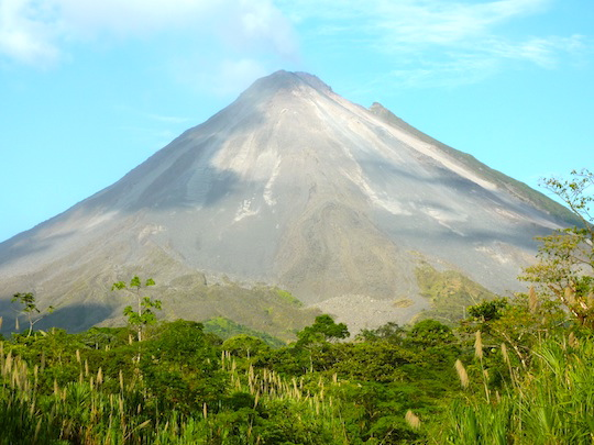 View on the Arenal Volcano in Costa Rica