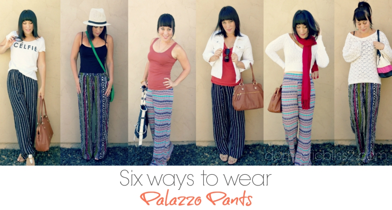 Six ways to wear palazzo pants
