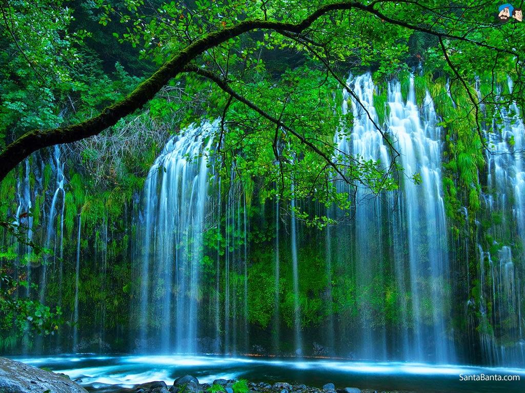 Gambar Animasi Air Terjun Wallpaper Pemandangan Alam Indah Cantik