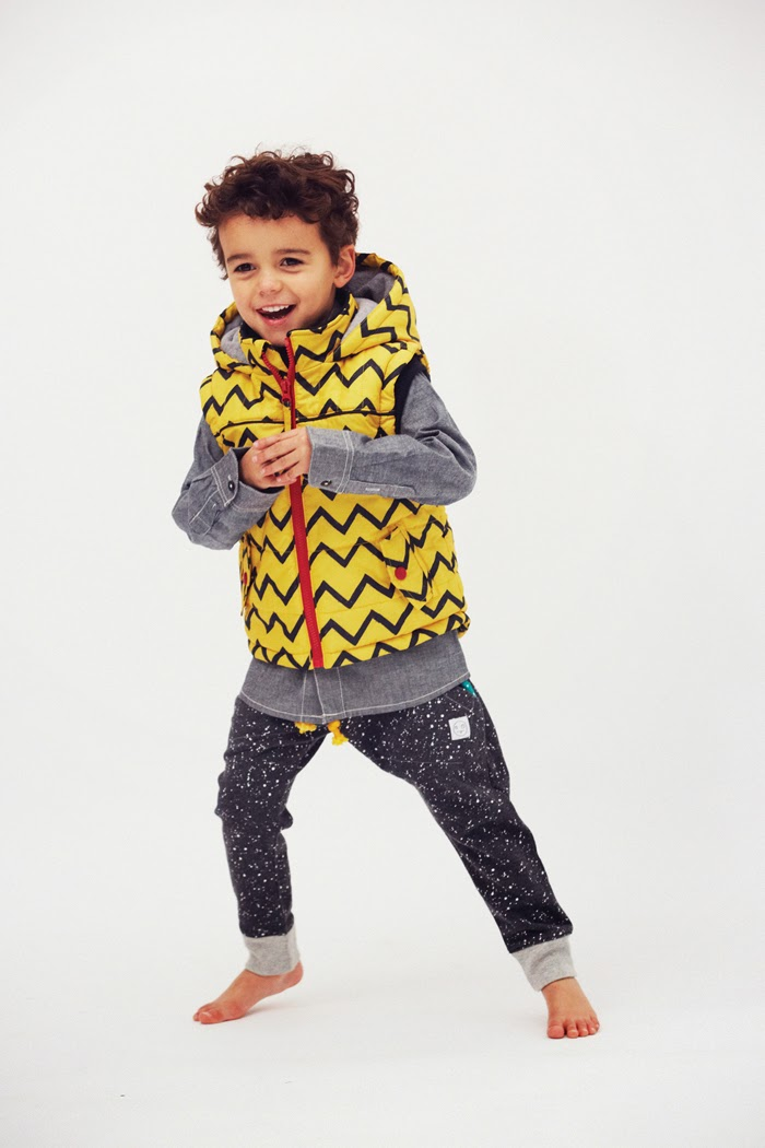 zigzag vest by Indikidual for autumn 2014 kidswear collection