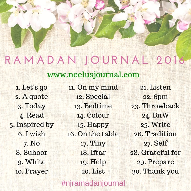 Ramadan Journal 2016