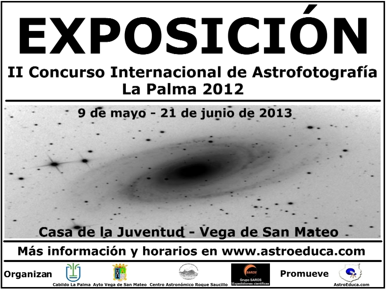 Exposicin II Concurso Internacional de Astrofotografa La Palma. Consulta el horario de visitas
