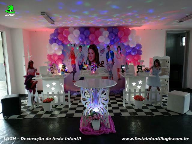 Tema Violetta para decoração de festa de aniversário de meninas em mesa provençal - Barra da Tijuca RJ