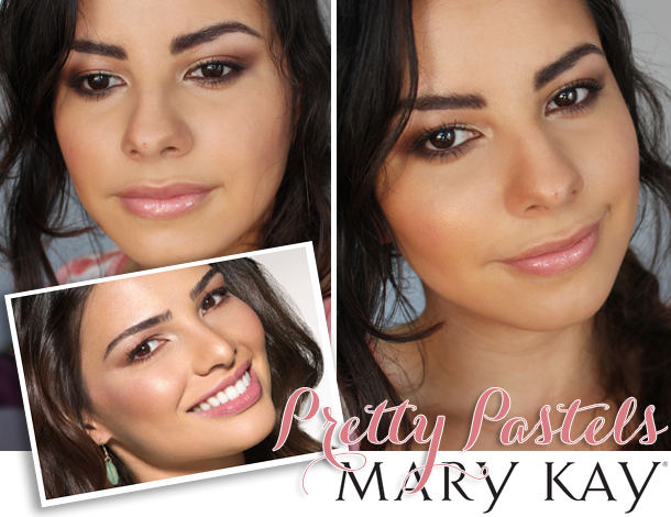mary kay pretty pastels spring makeup look