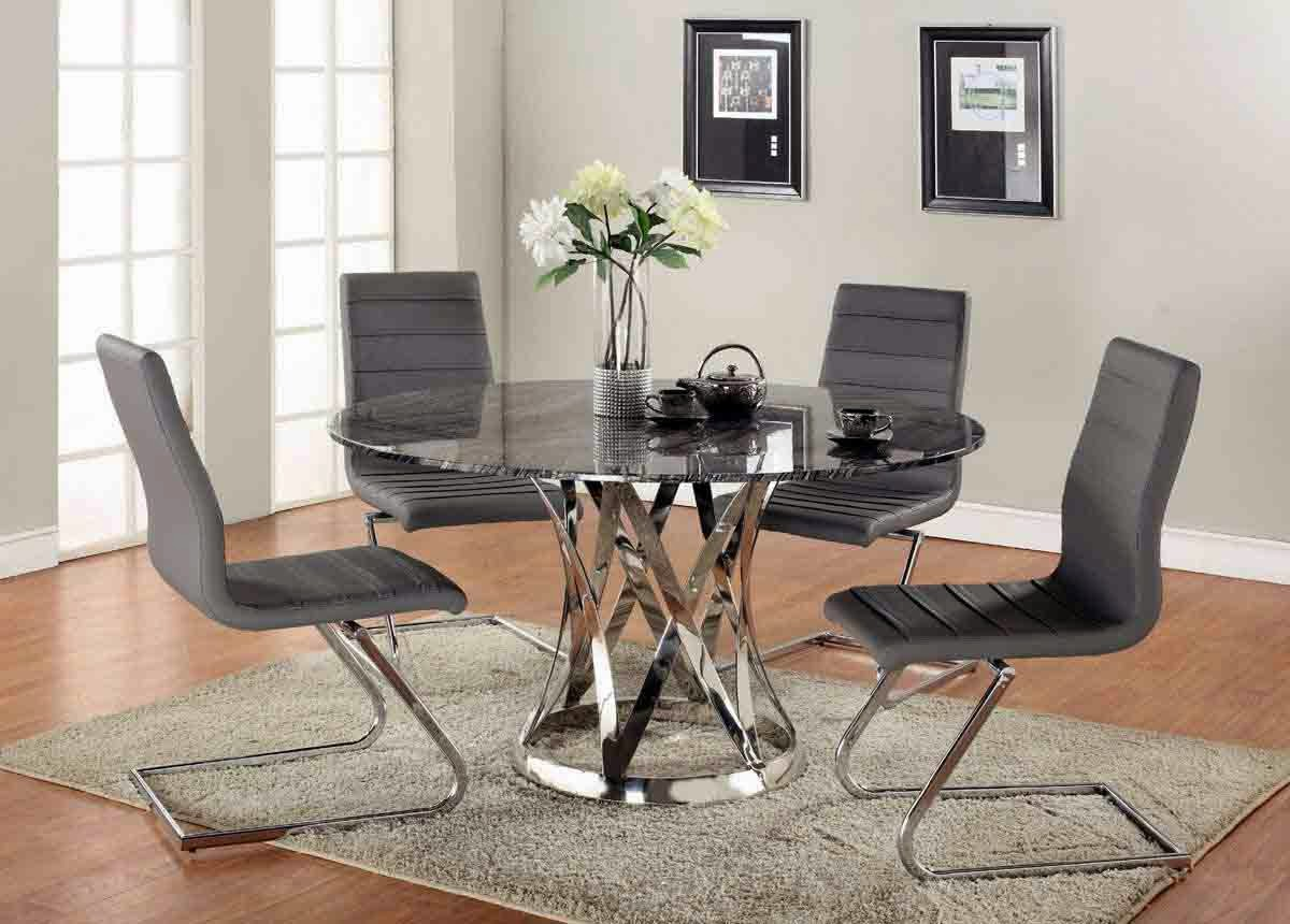 black leather dining chairs