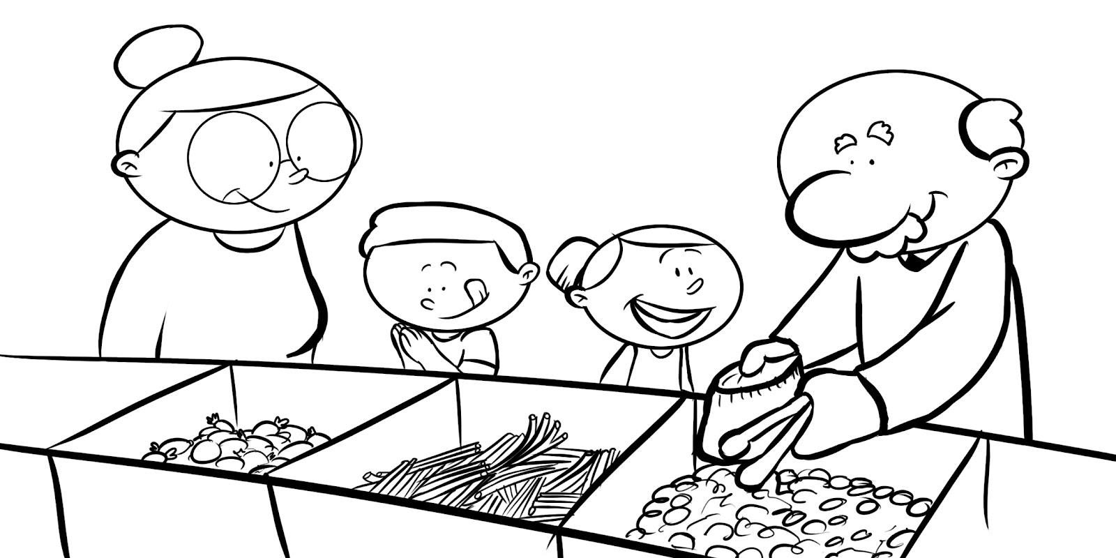 Día del abuelo en dibujos para colorear - Imagui