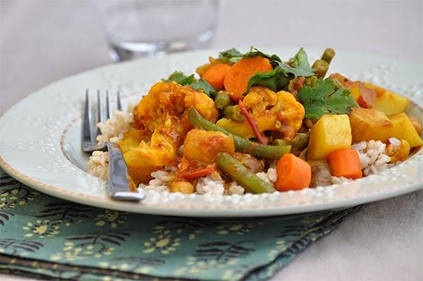 وصفات عشاء خفيف - الخضار بالكاري