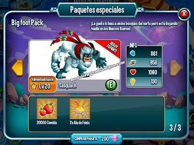imagen de la oferta especial del monster sasquach
