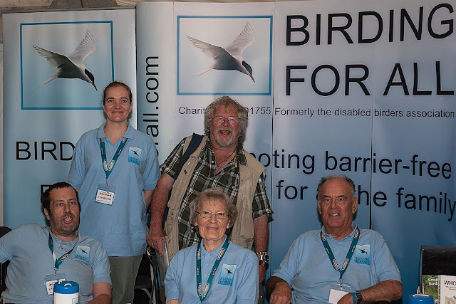 Birding for all team meets Bill Oddie