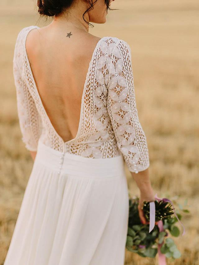 Vestidos novia boda rural