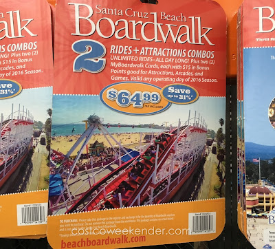 Spend a sunny day with a friend at the Santa Cruz Beach Boardwalk with the 2016 Combo Pack