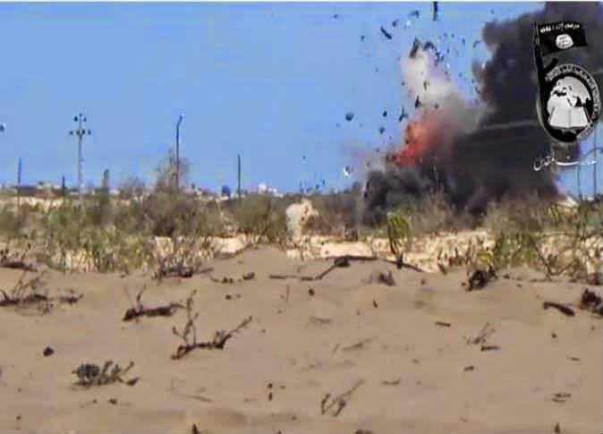 بالفيديو «بيت المقدس» تنشر مقطع لتفجير «مدرعة رفح»