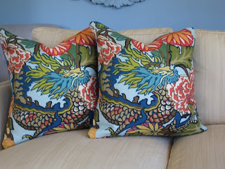 Throw Pillows Uncovered : Spicer + Bank: by Allison Egan: Chiang Mai Dragon Uncovered
