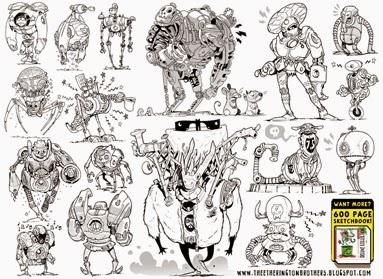 http://studioblinktwice.deviantart.com/art/17-Robot-Concepts-342168980