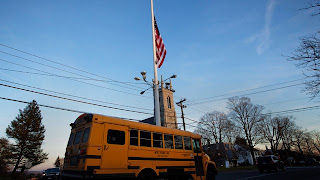 A school bus in Newtown, Connecticut.