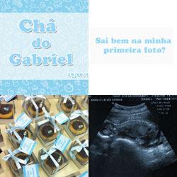 Tag para Cupcake - Chá do Gabriel