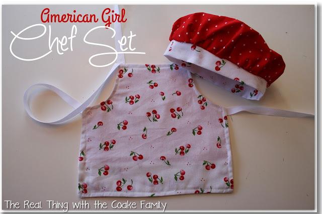American Girl Chef Set Giveaway! #giveaway #americangirl @realcoake