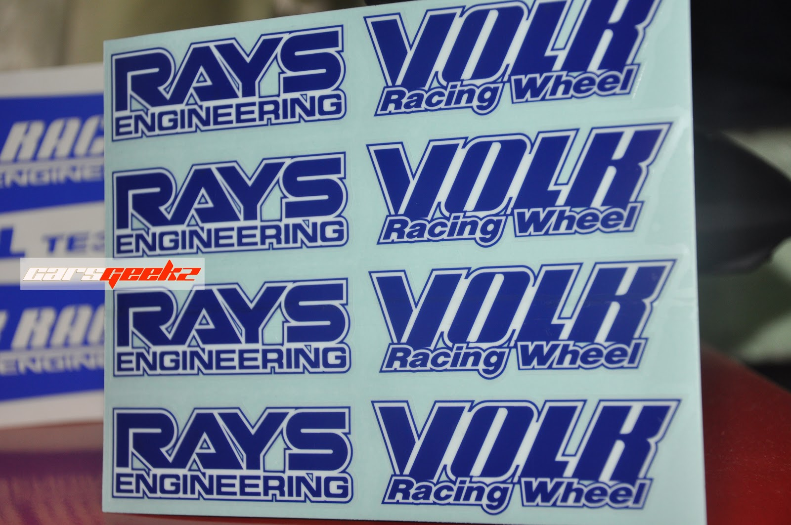 Volk Rays Racing TE37 - White Colour decal