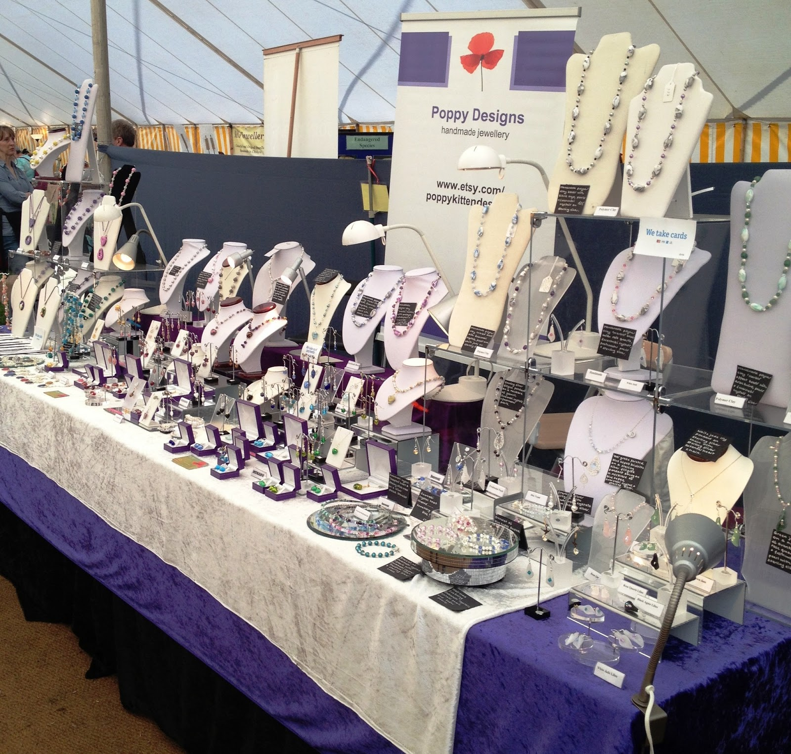 Poppy kitten designs craft fair displays and making for Jewelry displays for craft fairs
