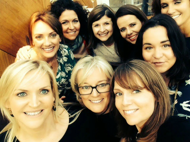 Jo Malone with Ireland's beauty press including Emma of Fluff and Fripperies