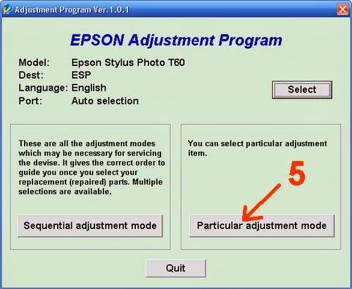TUTORIAL IT: Epson T60 Blink Reset