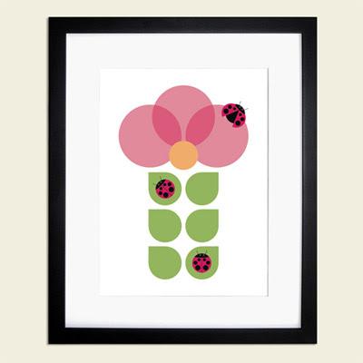 Otobi flower and ladybug print