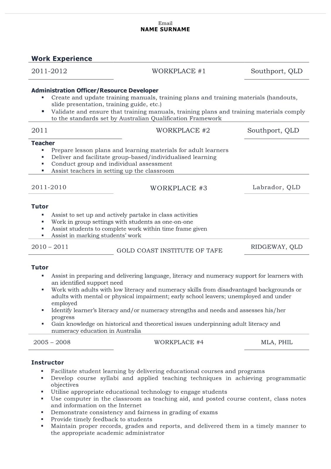 pin combination resume on pinterest