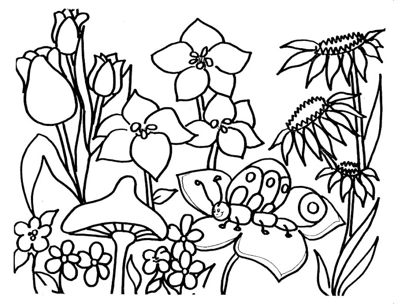 flower garden coloring pages download hq flower garden coloring pages  title=