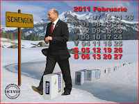 Funny postcard Februarie Traian Basescu