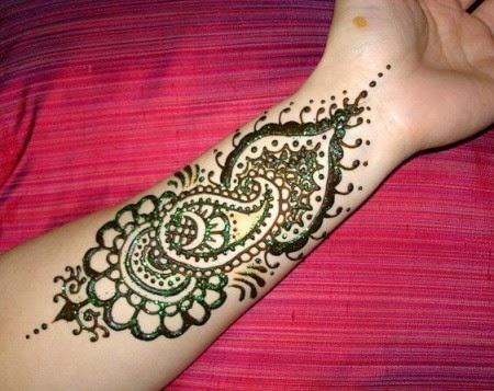 Beautiful Latest Simple Arabic Pakistani Indian Bridal Girl Mehndi