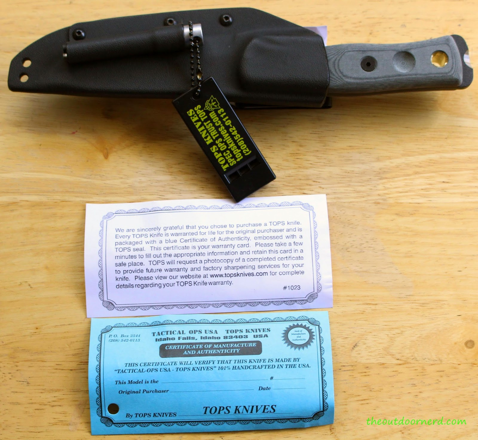 Tops Fieldcraft Fixed Blade Knife Unboxed