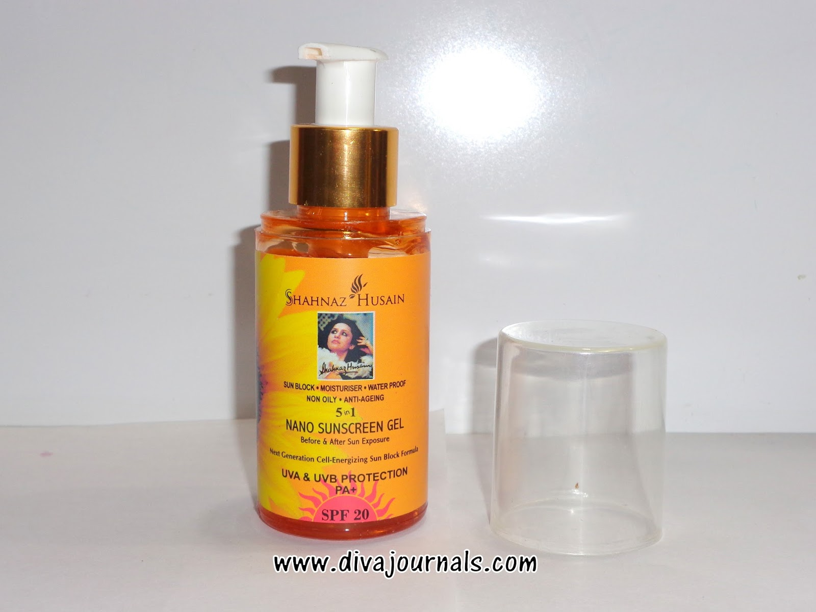 Shahnaz Husain Nano Sunscreen Gel SPF 20 Review