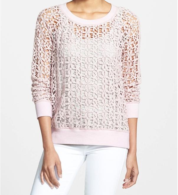 Summer Fashion - Halogen Lace Sweatshirt