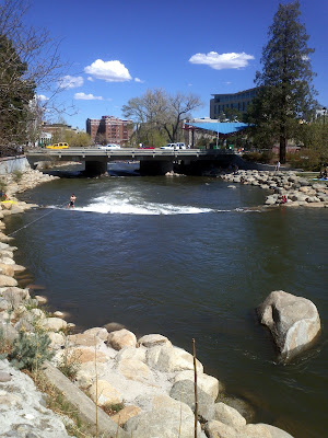 John and Daly at Truckee River