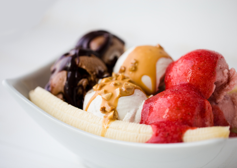 Grown-Up Baked Banana Split Recipe for National Banana Split Day