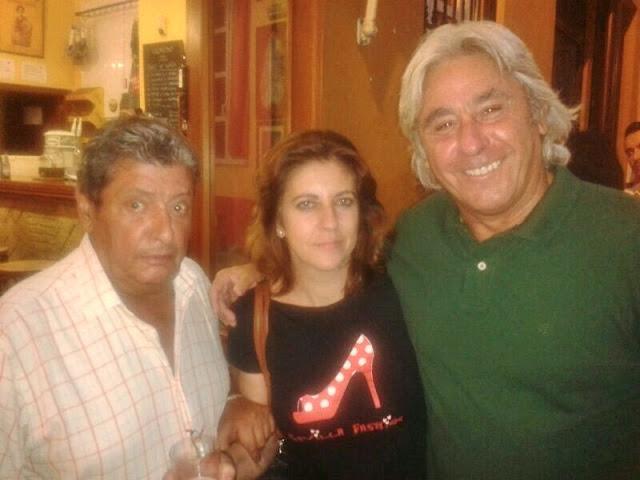 La ventrílocua Isabel Camiña con Paco Lola y Miguel Loreto