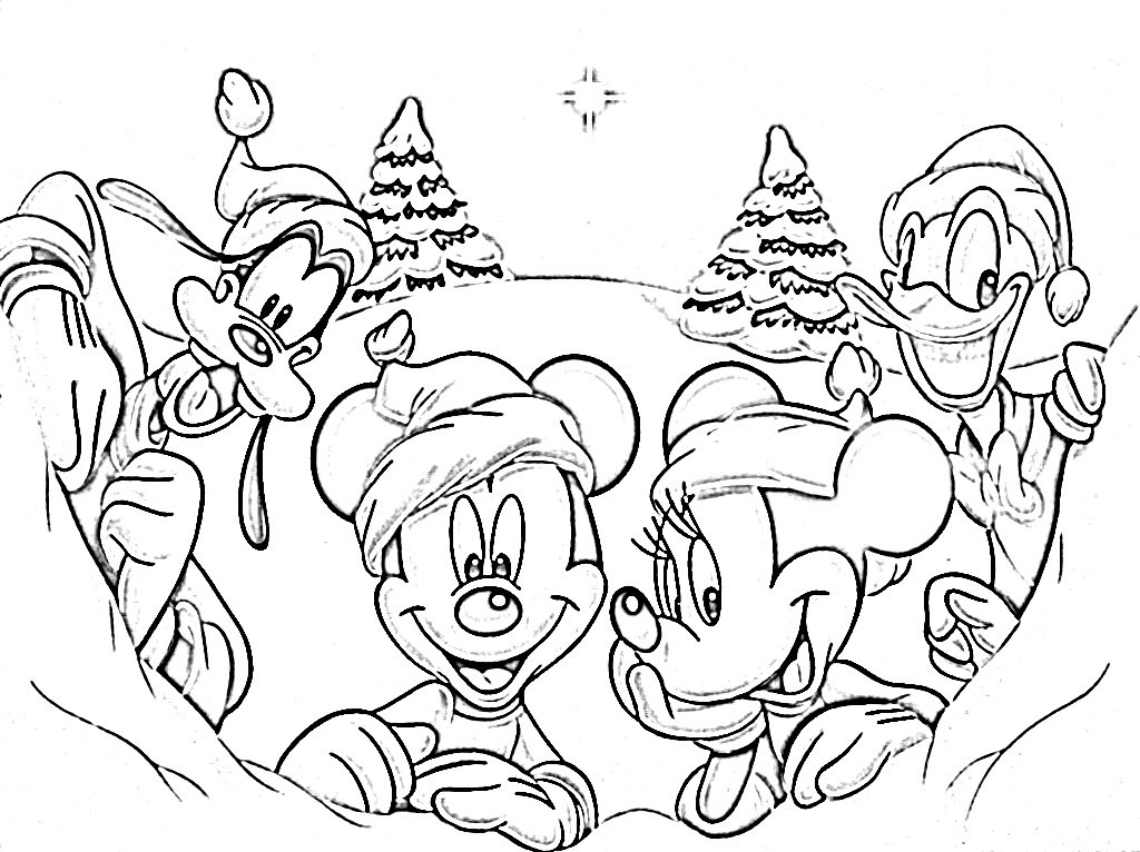 Coloring Pages Disney Christmas : Coloring pages christmas disney gt
